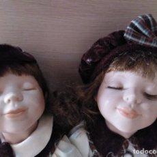 Muñecas Porcelana: MELLIZOS DE PORCELANA. Lote 144553126