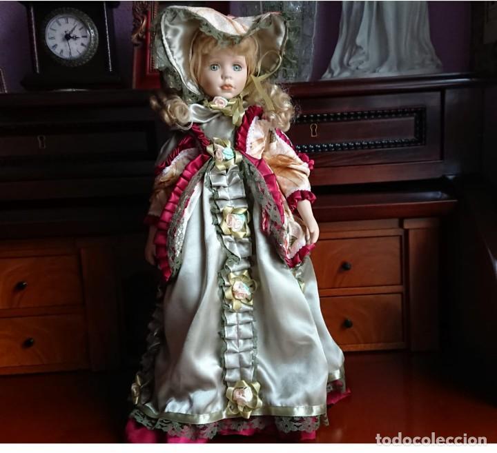 MUÑECA VICTORIANA (Juguetes - Muñeca Extranjera Moderna - Porcelana)