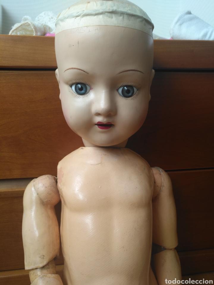 Muñecas Porcelana: Antigua muñeca cuerpo cartón piedra extremidades Madera EvF belga difícil de encontrar. - Foto 2 - 146744493