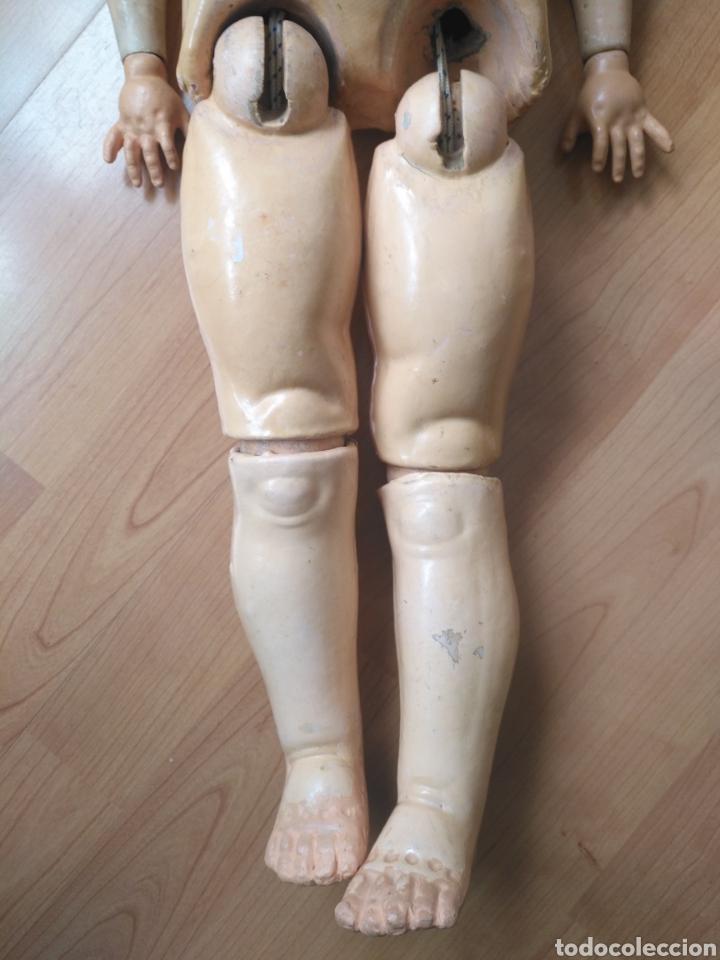 Muñecas Porcelana: Antigua muñeca cuerpo cartón piedra extremidades Madera EvF belga difícil de encontrar. - Foto 6 - 146744493