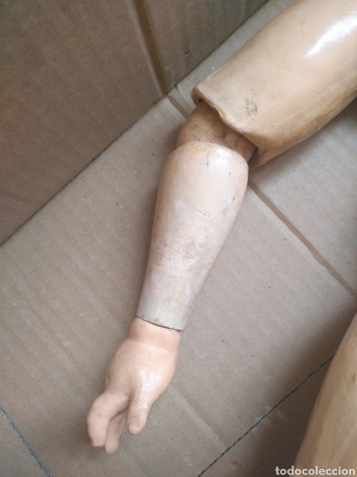Muñecas Porcelana: Antigua muñeca cuerpo cartón piedra extremidades Madera EvF belga difícil de encontrar. - Foto 13 - 146744493