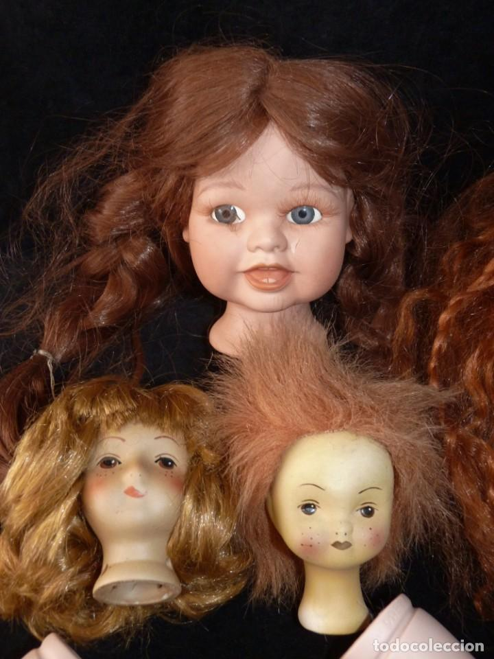 Muñecas Porcelana: GRAN LOTE RESTAURACIÓN MUÑECAS PORCELANA. PIERNAS, BRAZOS Y CABEZAS - Foto 2 - 146845366