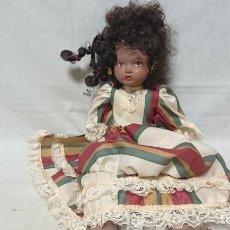 Muñecas Porcelana: MUÑECA MULATA DE PORCELANA. Lote 148731954