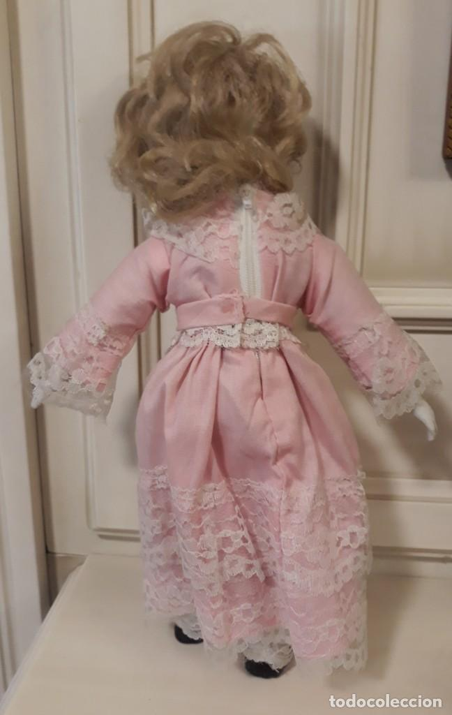 Muñecas Porcelana: muñeca de trapo con cabeza, manos y pies de porcelana o similar - Foto 2 - 151758686