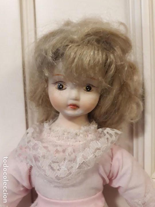 Muñecas Porcelana: muñeca de trapo con cabeza, manos y pies de porcelana o similar - Foto 3 - 151758686