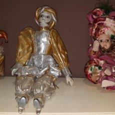 Muñecas Porcelana: LOTE DE 3 MUÑECAS DE PORCELANA Y TRAPO, TAL CUAL SE VEN.. Lote 151843702