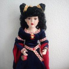 Muñecas Porcelana: MUÑECA DE PORCELANA BLANCANIEVES, FAIRYTALE COLLECTION,EN CAJA NUNCA JUGADA.. Lote 151886694
