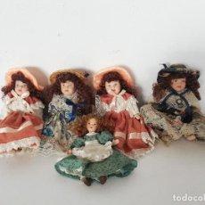 Muñecas Porcelana: LOTE DE CINCO MUÑECAS DE PORCELANA, ARTICULADAS.. Lote 151895370