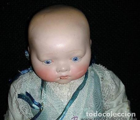 Muñecas Porcelana: Bebe de porcelana tipo Armand Marseille, no esta marcado. El cuerpo parece mas reciente. - Foto 2 - 151902298