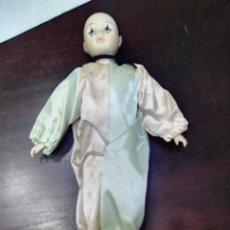 Muñecas Porcelana: MUÑECA DE PORCELANA PAYASO ARLEQUIN. Lote 152567322