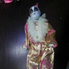 Muñecas Porcelana: MUÑECA DE PORCELANA PAYASO ARLEQUIN. Lote 152567538