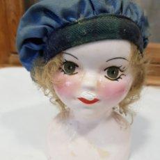 Muñecas Porcelana: CABEZA DE CHICA PORCELANA. 15CM ALTO.. Lote 153382762