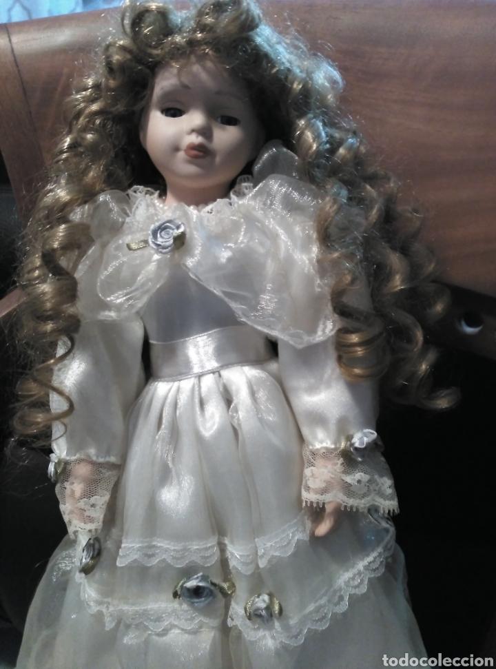Muñecas Porcelana: MUÑECA PORCELANA 43CM OJOS CRISTAL RIZOS - Foto 2 - 154441677