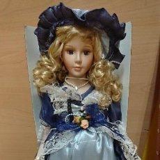 Muñecas Porcelana: MUÑECA DE ÉPOCA DE PORCELANA DE ARIAS - EN CAJA. Lote 155294966