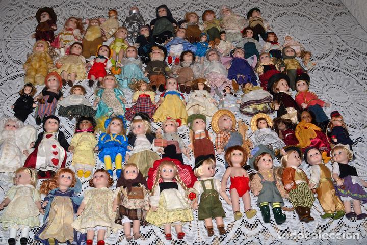 Muñecas Porcelana: MEGA COLECCIÓN GRAN LOTE DE 63 MUÑECAS , LA MAYORÍA DE PORCELANA CON OJOS DE CRISTAL, DISNEY, ETC - Foto 2 - 155892658