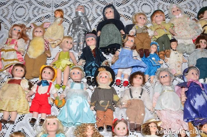 Muñecas Porcelana: MEGA COLECCIÓN GRAN LOTE DE 63 MUÑECAS , LA MAYORÍA DE PORCELANA CON OJOS DE CRISTAL, DISNEY, ETC - Foto 4 - 155892658