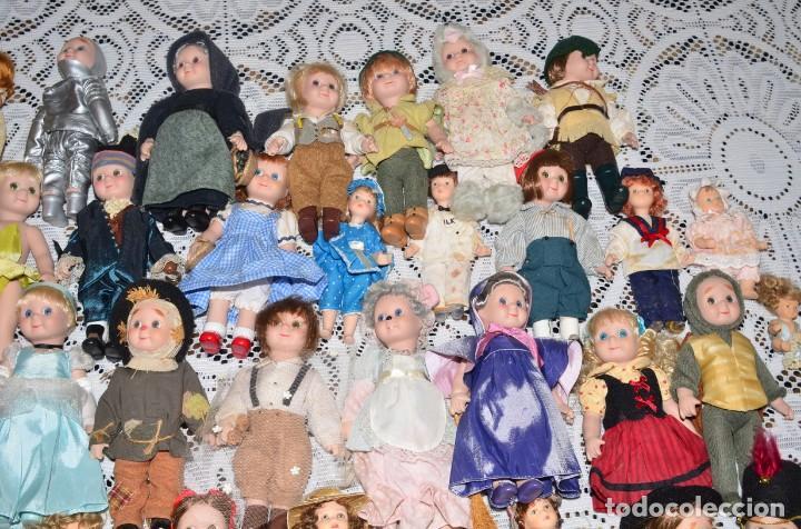 Muñecas Porcelana: MEGA COLECCIÓN GRAN LOTE DE 63 MUÑECAS , LA MAYORÍA DE PORCELANA CON OJOS DE CRISTAL, DISNEY, ETC - Foto 5 - 155892658
