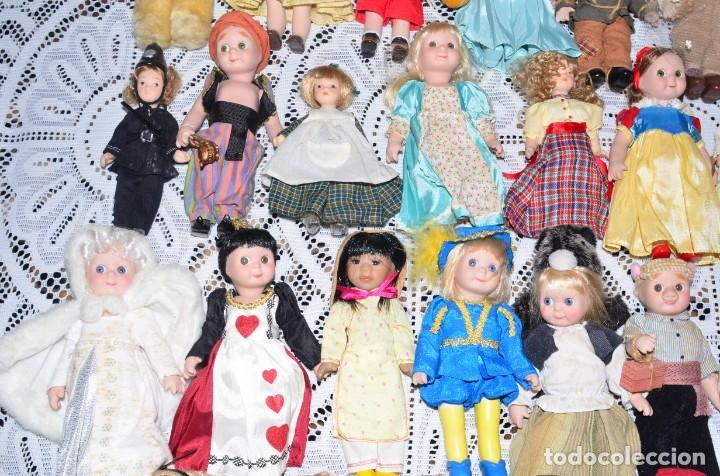 Muñecas Porcelana: MEGA COLECCIÓN GRAN LOTE DE 63 MUÑECAS , LA MAYORÍA DE PORCELANA CON OJOS DE CRISTAL, DISNEY, ETC - Foto 9 - 155892658