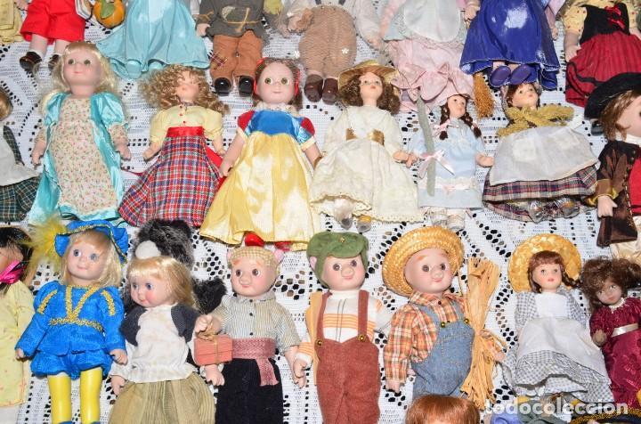 Muñecas Porcelana: MEGA COLECCIÓN GRAN LOTE DE 63 MUÑECAS , LA MAYORÍA DE PORCELANA CON OJOS DE CRISTAL, DISNEY, ETC - Foto 10 - 155892658