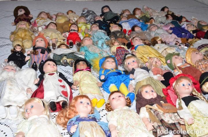 Muñecas Porcelana: MEGA COLECCIÓN GRAN LOTE DE 63 MUÑECAS , LA MAYORÍA DE PORCELANA CON OJOS DE CRISTAL, DISNEY, ETC - Foto 15 - 155892658
