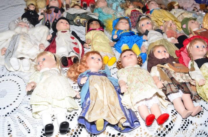 Muñecas Porcelana: MEGA COLECCIÓN GRAN LOTE DE 63 MUÑECAS , LA MAYORÍA DE PORCELANA CON OJOS DE CRISTAL, DISNEY, ETC - Foto 16 - 155892658