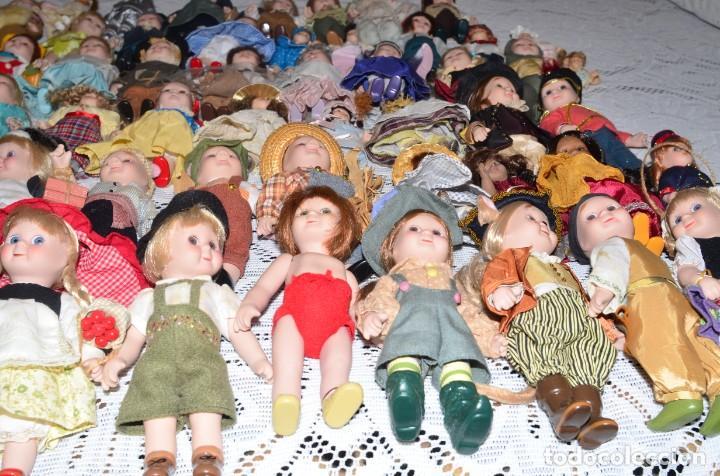 Muñecas Porcelana: MEGA COLECCIÓN GRAN LOTE DE 63 MUÑECAS , LA MAYORÍA DE PORCELANA CON OJOS DE CRISTAL, DISNEY, ETC - Foto 18 - 155892658