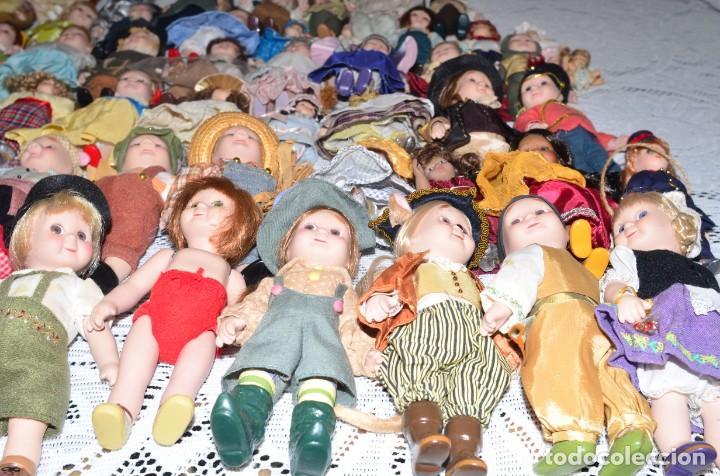 Muñecas Porcelana: MEGA COLECCIÓN GRAN LOTE DE 63 MUÑECAS , LA MAYORÍA DE PORCELANA CON OJOS DE CRISTAL, DISNEY, ETC - Foto 19 - 155892658