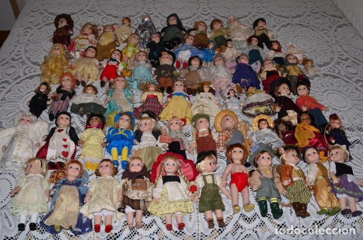 Muñecas Porcelana: MEGA COLECCIÓN GRAN LOTE DE 63 MUÑECAS , LA MAYORÍA DE PORCELANA CON OJOS DE CRISTAL, DISNEY, ETC - Foto 20 - 155892658