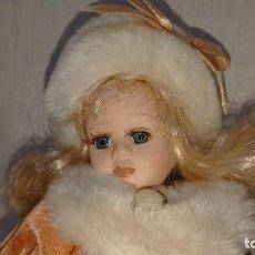 Muñecas Porcelana: SIMPÁTICA MUÑECA DE PORCELANA 23 CM. Lote 156540198