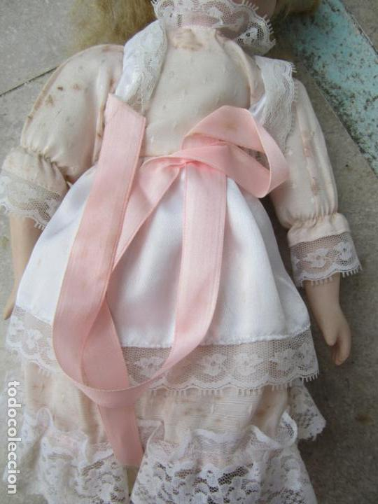 Muñecas Porcelana: muñeca cara y estremidades de porcelana de ojos fijos - Foto 9 - 158237806