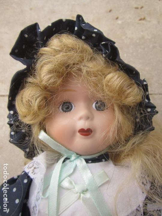 Muñecas Porcelana: muñeca cara y estremidades de porcelana de ojos fijos - Foto 2 - 158238422