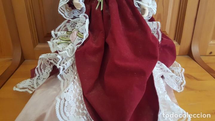 Muñecas Porcelana: ANTÍGUA MUÑECA. CARA BRAZOS Y PIERNAS DE PORCELANA. DISPONE DE BASE SOPORTE. AÑOS 50. - Foto 6 - 158304438