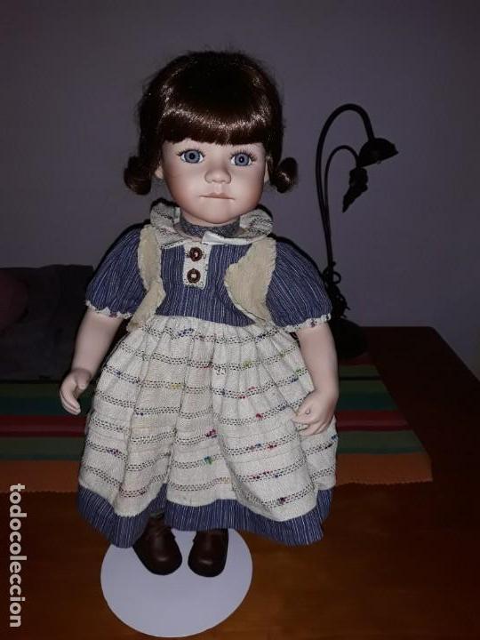 Muñecas Porcelana: Pareja de niños del campo** - Foto 2 - 158569006