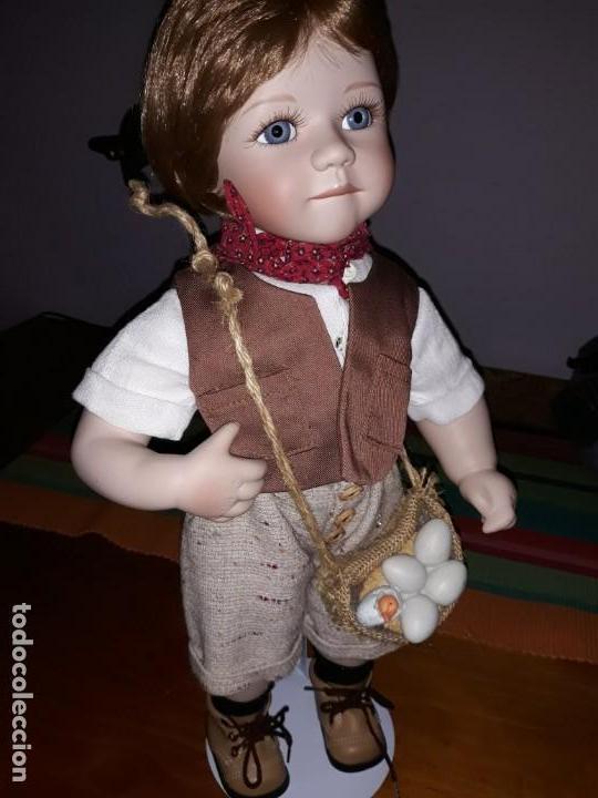 Muñecas Porcelana: Pareja de niños del campo** - Foto 6 - 158569006