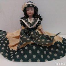 Muñecas Porcelana: MUÑECA PORCELANA, 22 CM ALTURA SENTADA. Lote 158912174