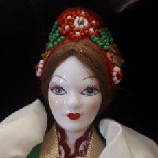 Muñecas Porcelana: MUÑECA RUSA PORCELANA. Lote 159823913