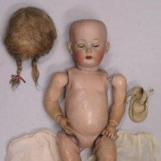 Muñecas Porcelana: ANTIGUA MUÑECA DE PORCELANA. OJOS DURMIENTES. MARCAS NUCA. Lote 161129486