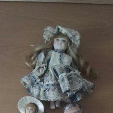 Muñecas Porcelana: LOTE MUÑECAS DE PORCELANA. Lote 166028574
