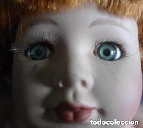 Muñecas Porcelana: ANTIGUA MUÑECA PORCELANA CARA ESMALTADA - CUERPO COMPLETO PORCELANA - Foto 2 - 166150286