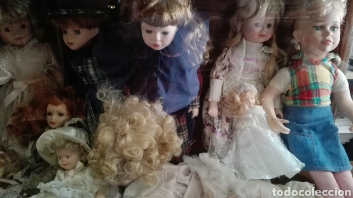 Muñecas Porcelana: LOTE UNAS 44 MUÑECAS DE PORCELANA VARIOS TAMAÑOS - Foto 3 - 158214702