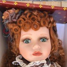 Muñecas Porcelana: MUÑECA DE PORCELANA GRANDE AÑOS 90. HECHA A MANO. Lote 168646324