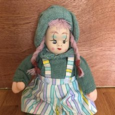 Muñecas Porcelana: MUÑECA CARA DE PORCELANA Y CUERPO DE TRAPO - AÑOS 80 APROXIMADAMENTE - ESTUPENDO ESTADO. Lote 169415828