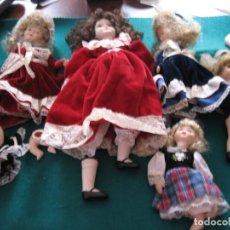 Bambole Porcellana: LOTE DE SEIS MUÑECAS Y PIEZAS DE PORCELNA PARA RESTAURAR O PARA PIEZAS. Lote 170021384