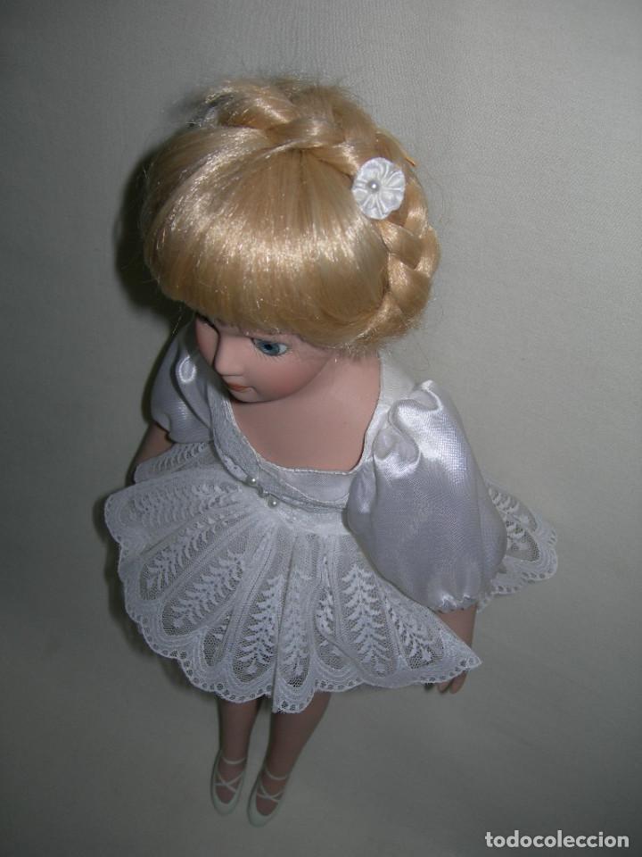 Muñecas Porcelana: MUY BONITA MUÑECA DE PORCELANA DE COLECCIÓN - BAILARINA DE BALLET - MIDE 40 CMS. - - Foto 7 - 170229508