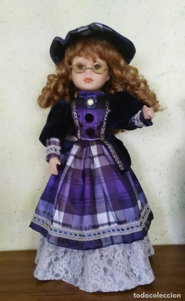 MUÑECA DE PORCELANA , MEDIDA 40 CM, (Juguetes - Muñeca Extranjera Moderna - Porcelana)