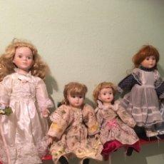 Muñecas Porcelana: SEIS MUÑECAS PORCELANA DISTINTAS. Lote 171634369