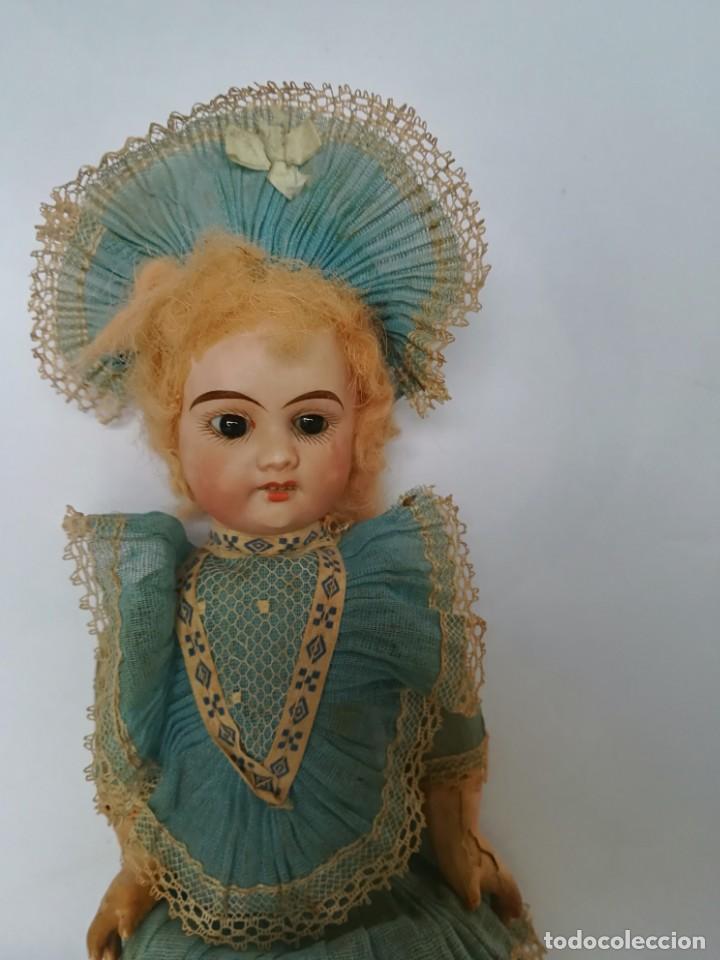 Muñecas Porcelana: MUÑECA PORCELANA Y COMPOSICIÓN TIPO FLEISCHMANN CON ROPA ORIGINAL Y CAJA - Foto 2 - 172020407