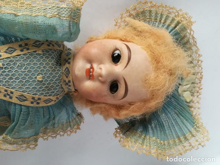 Muñecas Porcelana: MUÑECA PORCELANA Y COMPOSICIÓN TIPO FLEISCHMANN CON ROPA ORIGINAL Y CAJA - Foto 3 - 172020407
