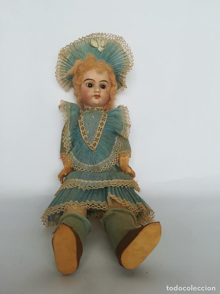 Muñecas Porcelana: MUÑECA PORCELANA Y COMPOSICIÓN TIPO FLEISCHMANN CON ROPA ORIGINAL Y CAJA - Foto 4 - 172020407