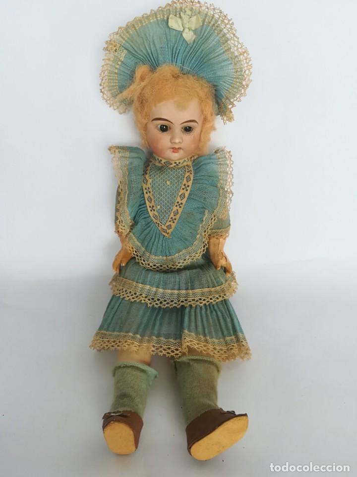 Muñecas Porcelana: MUÑECA PORCELANA Y COMPOSICIÓN TIPO FLEISCHMANN CON ROPA ORIGINAL Y CAJA - Foto 5 - 172020407